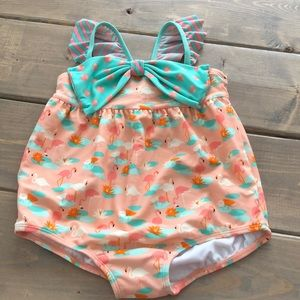 NWOT Matilda Jane 18-24 mo flamingo print swimsuit